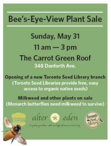 Bee's Eye View plant sale pic of poster